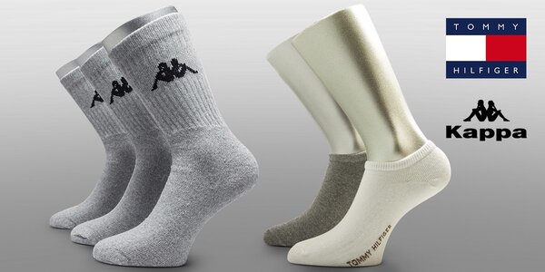 Ponožky Kappa a Tommy Hilfiger