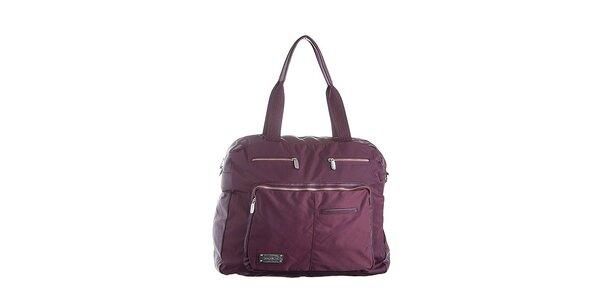 Vínová luxusní taška Lancaster