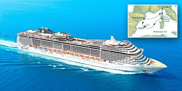 Luxusní plavba Středomořím + jídlo i delegát