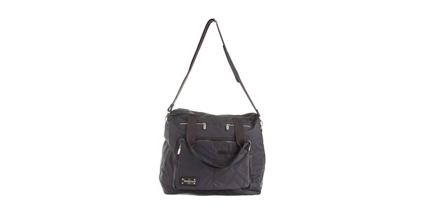 Tmavě hnědá luxusní taška Lancaster