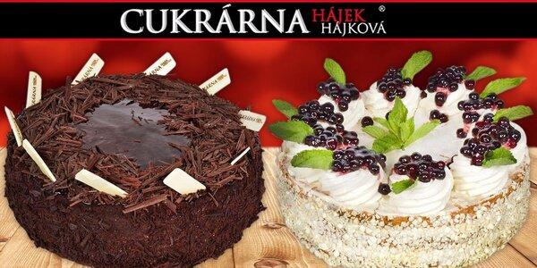 Vynikající dorty z cukrárny Hájek & Hájková
