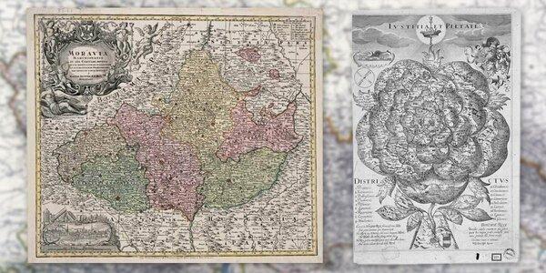 Unikátní mapy českých zemí z let 1518–1957
