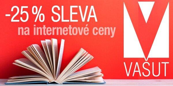 25% sleva na nákup knih v e-shopu Vašut.cz