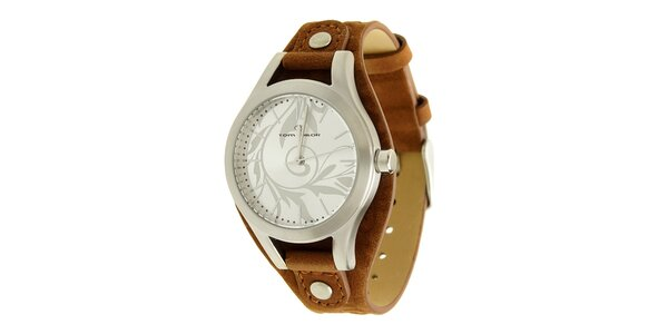 Dámské hnědé analogové hodinky Tom Tailor