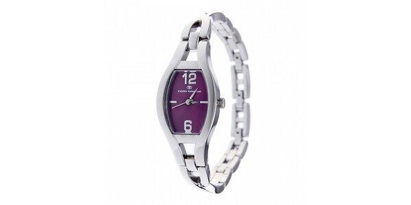Dámské ocelové hodinky Tom Tailor s tmavě fialovým ciferníkem
