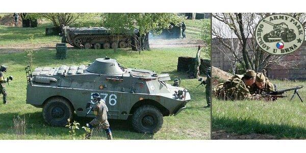 75 Kč za vstupenku do ARMY PARKU pro dospělého nebo dvě děti.
