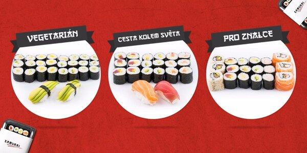 Sushi sety připravené japonským šéfkuchařem