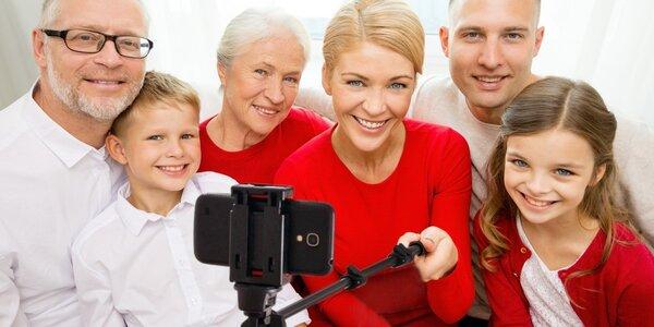 Selfie tyč s bluetooth dálkovým ovladačem