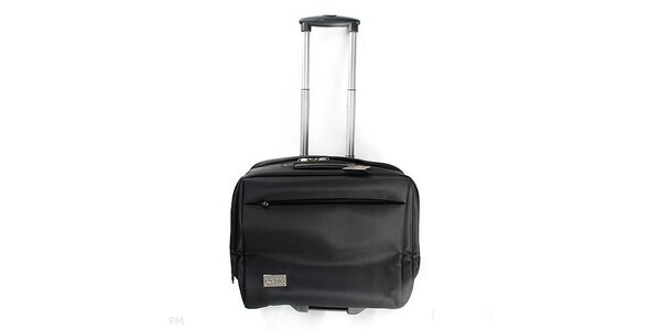 Příruční kufr Lancaster s výsuvným madlem a kolečky