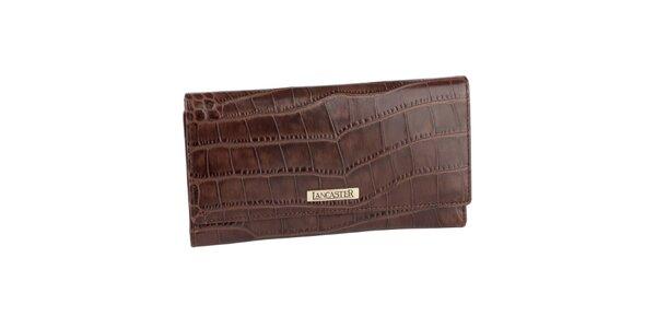 Tmavě hnědá kožená peněženka Lancaster psaníčko