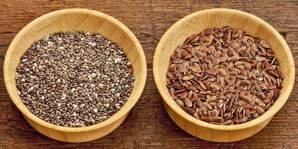 Zdravý tandem chia a lněných semínek
