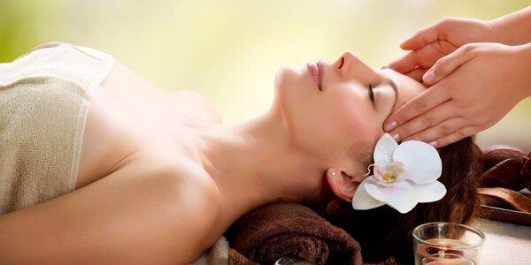 60minutová relaxační masáž hlavy a obličeje