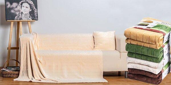 Heboučká flanelová deka