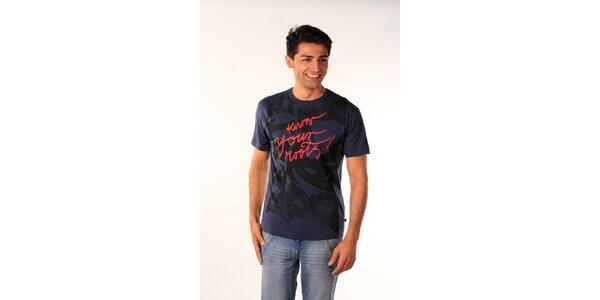 Pánské tmavě modré tričko Bestebat s potiskem
