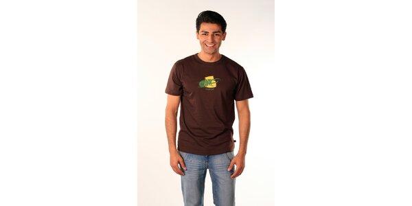 Pánské hnědé tričko Bestebat s potiskem