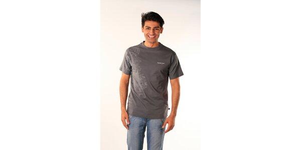 Pánské ocelově šedé tričko Bestebat s potiskem