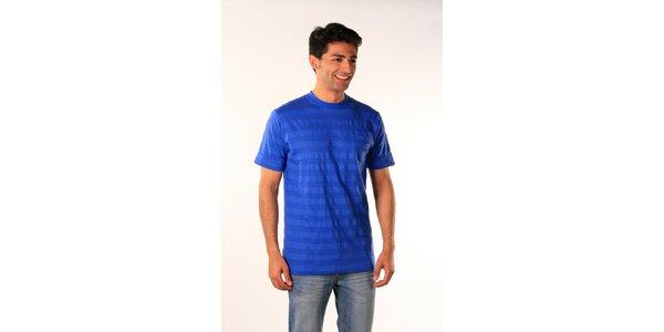 Pánské zářivě modré proužkované tričko Bestebat
