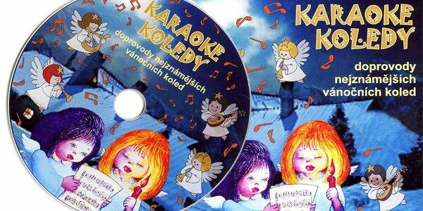 Vánoční koledy jako karaoke na DVD + zpěvník