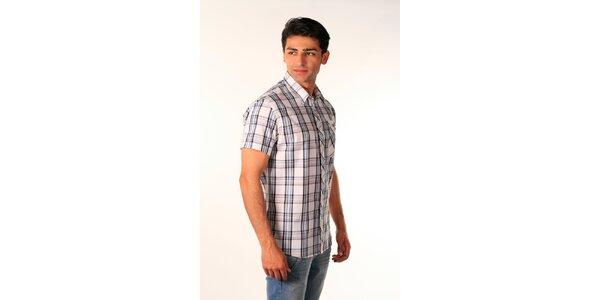 Pánská modro-bílá kostkovaná košile Bestebat