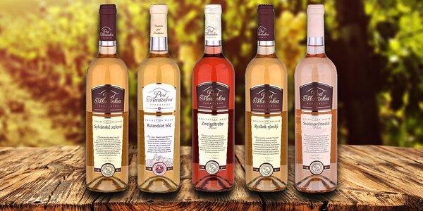Balíček 5 vín z Vinařství pod Martinkou