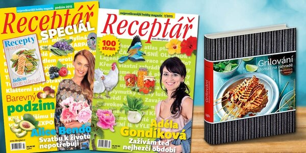 Časopis Receptář + Speciál a kuchařka