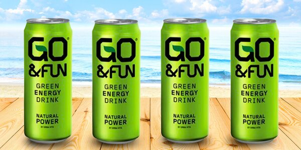 24 plechovek energy drinku Go&Fun