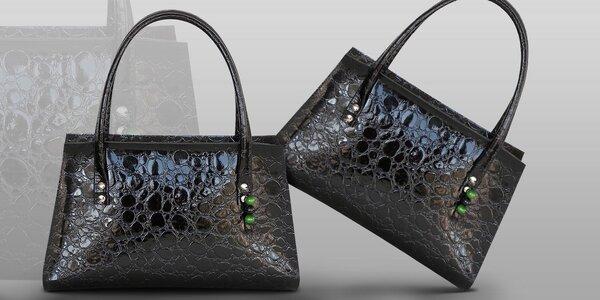 Luxusní kožená kabelka české výroby