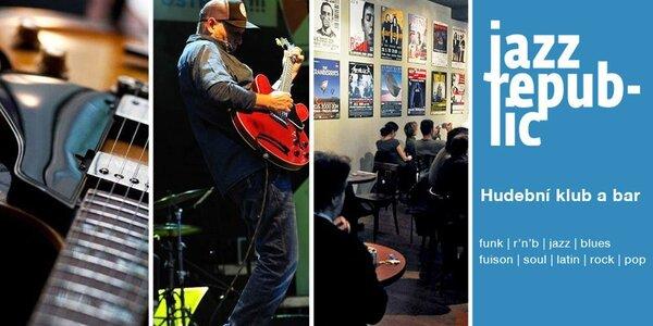 2 vstupenky na koncerty v Jazz Republic