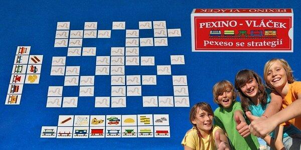 Pexino: Strategické pexeso s vláčky