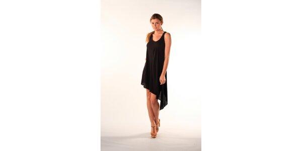 Dámské černé asymetrické šaty Beste Bat