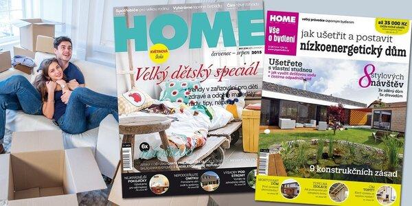 Roční předplatné časopisu HOME