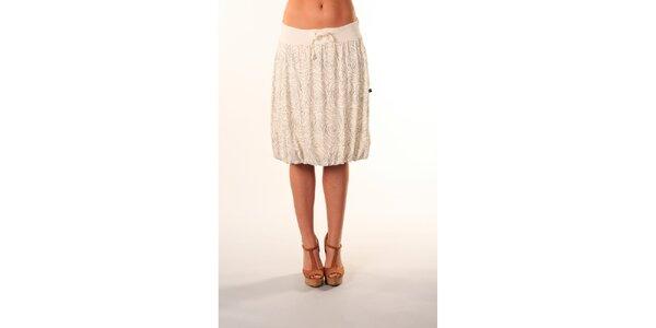 Dámská bílá sukně ke kolenům s černým vzorem Beste Bat