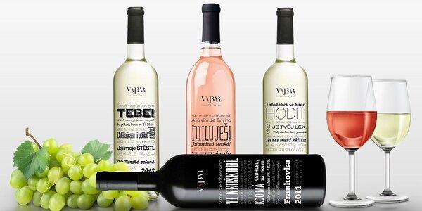 Vína s etiketami, které popřejí za vás