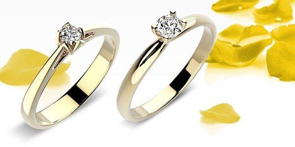 Překrásné zásnubní prsteny ze žlutého zlata