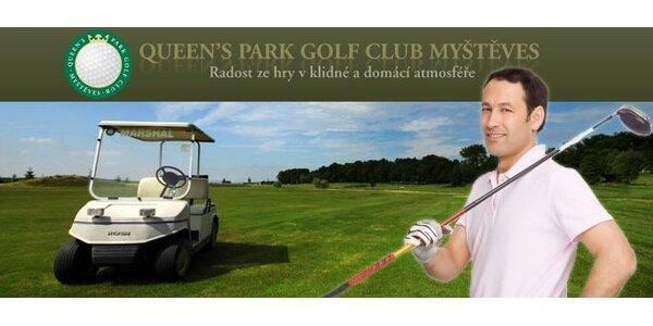 299 Kč za ochutnávku golfu na veřejném hřišti v Queens resortu v Myštěvsi.