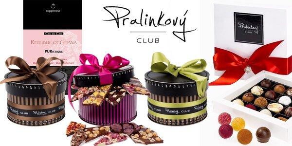 Luxusní pralinky i koše plné čokolády z Pralinkového CLUBU