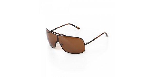 Pánské hnědé sluneční brýle Big Star
