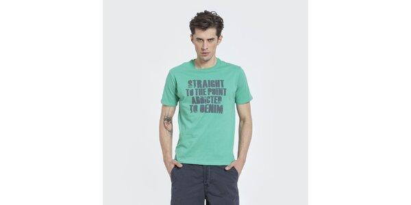 Pánské zelené tričko Big Star s potiskem