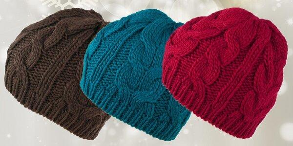 Módní dámská pletená čepice