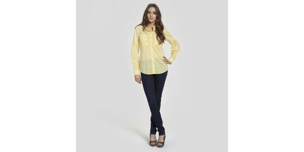 Dámská vanilkově žlutá košile Big Star