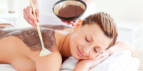 Čokoládová masáž s čokoládovým zábalem