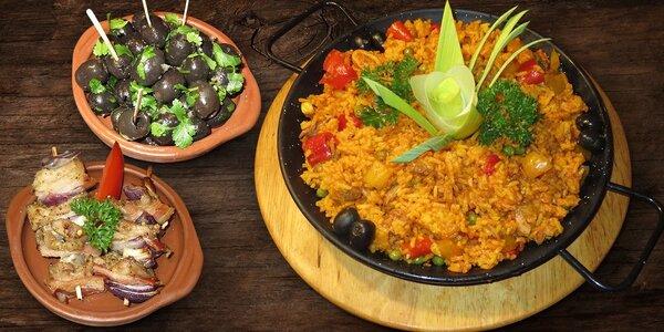 Španělská paella a tapas v La Bodega Flamenca
