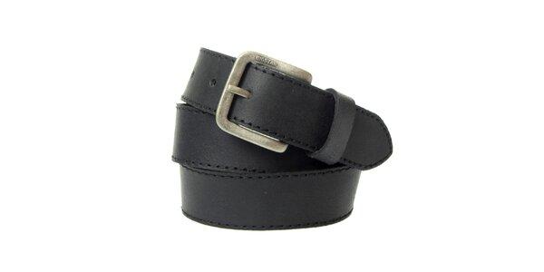 Pánský černý kožený pásek Big Star