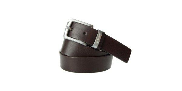 Pánský tmavě hnědý kožený pásek Big Star