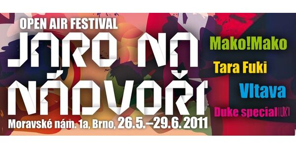399 Kč za všechny koncerty festivalu Jaro na nádvoří.