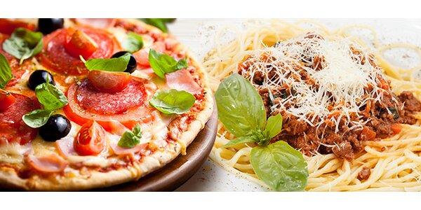 2 pizzy nebo těstoviny v restauraci Roma Uno