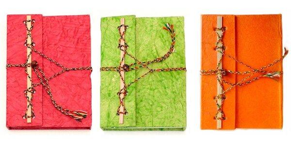Originální ručně dělaný deník z ručního papíru