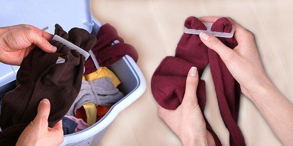 50 ks sponek na ponožky – konec lichých ponožek