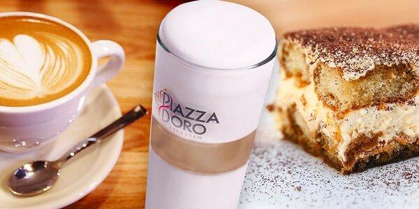Káva a tiramisu v restauraci U Lilie