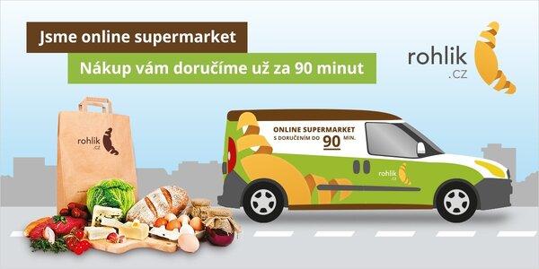 400 Kč do online supermarketu Rohlik.cz